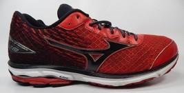 Mizuno Wave Rider 19 Running Shoes Men's Size US 13 M (D) EU 47 Red Black