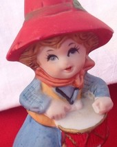 VINTAGE JASCO BELL DRUMMER BOY CHRISTMAS FIGURINE - Porcelain Bisque - $12.30