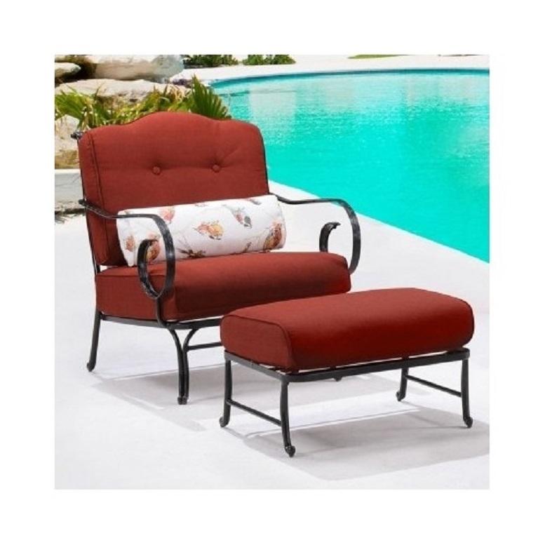 6 Piece Steel Patio Conversation Set Cushion Loveseat Chair Ottoman Coffee Table image 3