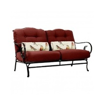 6 Piece Steel Patio Conversation Set Cushion Loveseat Chair Ottoman Coffee Table image 4
