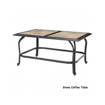 6 Piece Steel Patio Conversation Set Cushion Loveseat Chair Ottoman Coffee Table image 6
