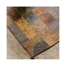 6 Piece Steel Patio Conversation Set Cushion Loveseat Chair Ottoman Coffee Table image 5