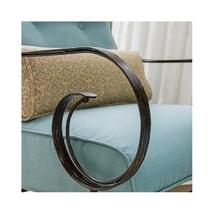 6 Piece Steel Patio Conversation Set Cushion Loveseat Chair Ottoman Coffee Table image 11