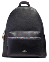 Coach Edgepaint Charles Backpack in Black Leather #F22235 $425.00 - $227.69