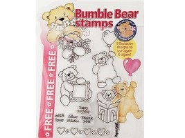 Bumble Bear Clear Stamps, Set of 9