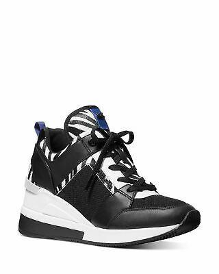 Michael Kors MK Women's Georgie Trainer Mesh Sneakers Shoes Zebra Print  - 7M