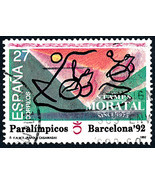 1992 Spain  Sc 2674 Paralympic Games Sport (o) Used, Nice  (Scott)  - £0.71 GBP