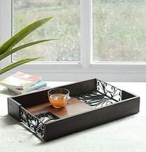storeindya Rustic Large Wooden Serving Tray Platter for Tea Snack Desser... - $62.08