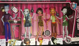 NEW!!  Monster High 5 Pack - We Are Monster High Student Disembody Counc... - $58.40