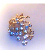 CRYSTAL GRAPE VINE PIN/BROOCH - GOLD OR SILVER - $10.00