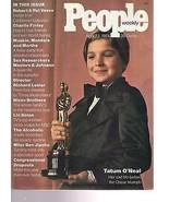 People Magazine Tatum O'Neal  April 22, 1974 - $24.74