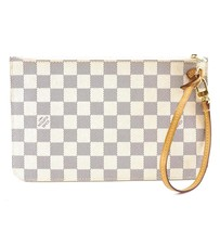 #32245 Louis Vuitton Neverfull Pochette XL Wristlet Cosmetic Evening Clutch - £329.63 GBP