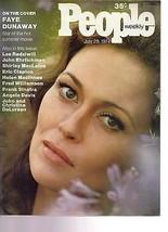 People Magazine Faye Dunaway July 29, 1974 - $14.80