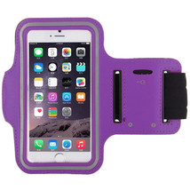 Sports Running Workout Gym Armband Arm Band Case Galaxy S5 S6 Edge Purple - $4.88