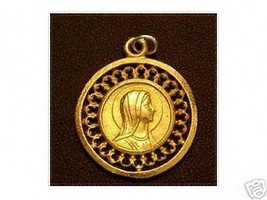 Wow Virgin Mary Gold Plated Pendant Charm Pray Jewelry - $22.95