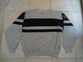 Vintage PUMA 80's GRAY Rayon Workout Jogging Crew Neck Sweatshirt M - $39.54
