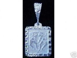 Wow Twins Gemini Zodiac Solid Sterling silver charm Pendant Ancient Carv... - $21.03