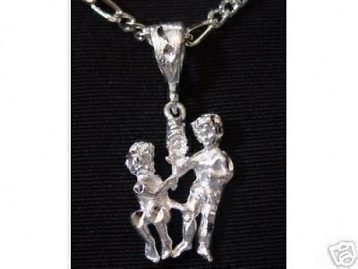 Primary image for Wow Twins Gemini Zodiac Astrology Sterling Silver 925 charn