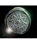 Wow Tribal Mayan Aztec Calendar Sun Ring Sterling silver - $40.75