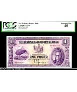 """NEW ZEALAND P155 1 POUND 1934 """"CHIEF MAORI"""" PCGS 40 RARE! DODO BIRD - $3,950.00"""