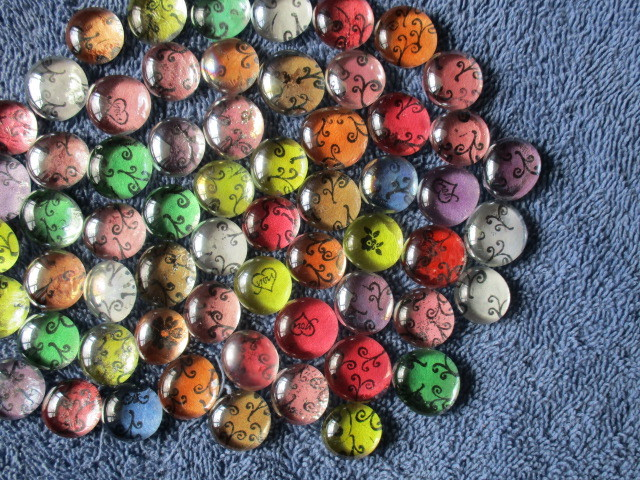 600 Mix Assorted Round Flat Back Glass Gems G1-Necklace-Craft-Magnets