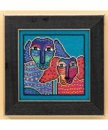 Ol' Blue and Red dog aida cross stitch kit Laurel Burch Mill Hill - $16.20