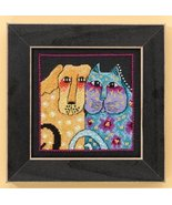 Fur-Ever Friends dog linen cross stitch kit Laurel Burch Mill Hill - $16.20