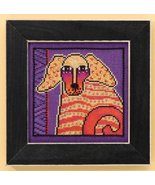 Goldie dog linen cross stitch kit Laurel Burch Mill Hill - $16.20