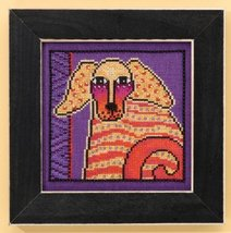 Goldie dog aida cross stitch kit Laurel Burch Mill Hill - $16.20