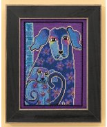 Bloomingtails dog linen cross stitch kit Laurel Burch Mill Hill - $16.20