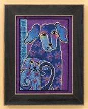 Bloomingtails dog aida cross stitch kit Laurel Burch Mill Hill - $16.20