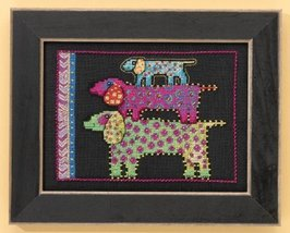 Dog Pyramid dog linen cross stitch kit Laurel B... - $16.20