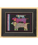 Dog Pyramid dog linen cross stitch kit Laurel Burch Mill Hill - $16.20