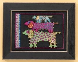 Dog Pyramid dog aida cross stitch kit Laurel Bu... - $16.20