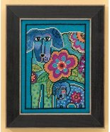 Petunia & Rose dog linen cross stitch kit Laurel Burch Mill Hill - $16.20