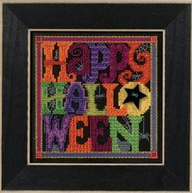 Happy Halloween Autumn Harvest Mill Hill 2016 Button and Bead kit Mill H... - $12.60