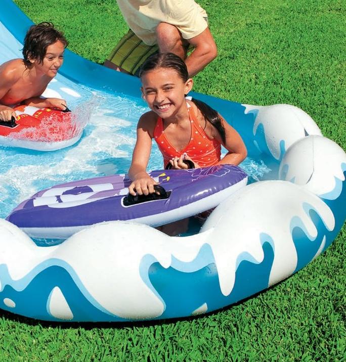 Water Slide Inflatable Waterslide Splash Pool Outdoor