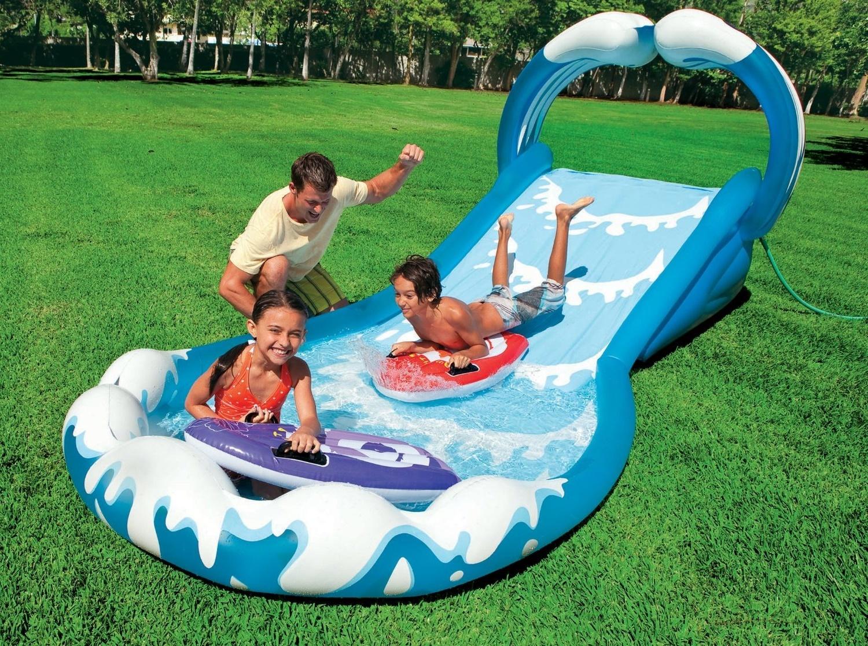 Water Slide Inflatable Waterslide Splash Pool Outdoor ...