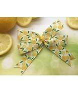 Lemon Hair Bow Clip, Hairbow, Lemons Ribbon, Handmade Boutique Bows for ... - £3.94 GBP