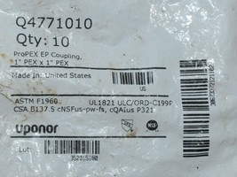 Uponor ProPex EP Coupling 1 Inch Pex X 1 Inch  Q4771010 Bag of 10 image 2
