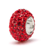 Red Crystal Charm Bead - $24.99