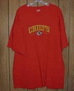 Kansas City Chiefs Football T Shirt Embroidered Logo