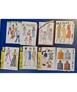 Simplicity/McCall's '60s / 70s / 80s Clothing Pattern Lot of 8 Pre-owned... - $14.84
