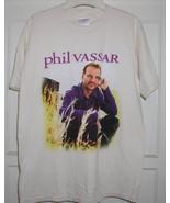 PHIL VASSAR CONCERT TOUR T SHIRT AUTOGRAPH - $84.99