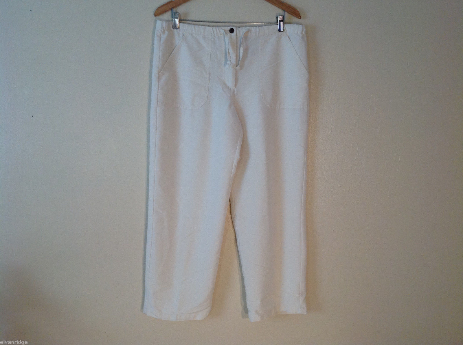 Carribean Joe Womens Cream Cargo Pants Size M