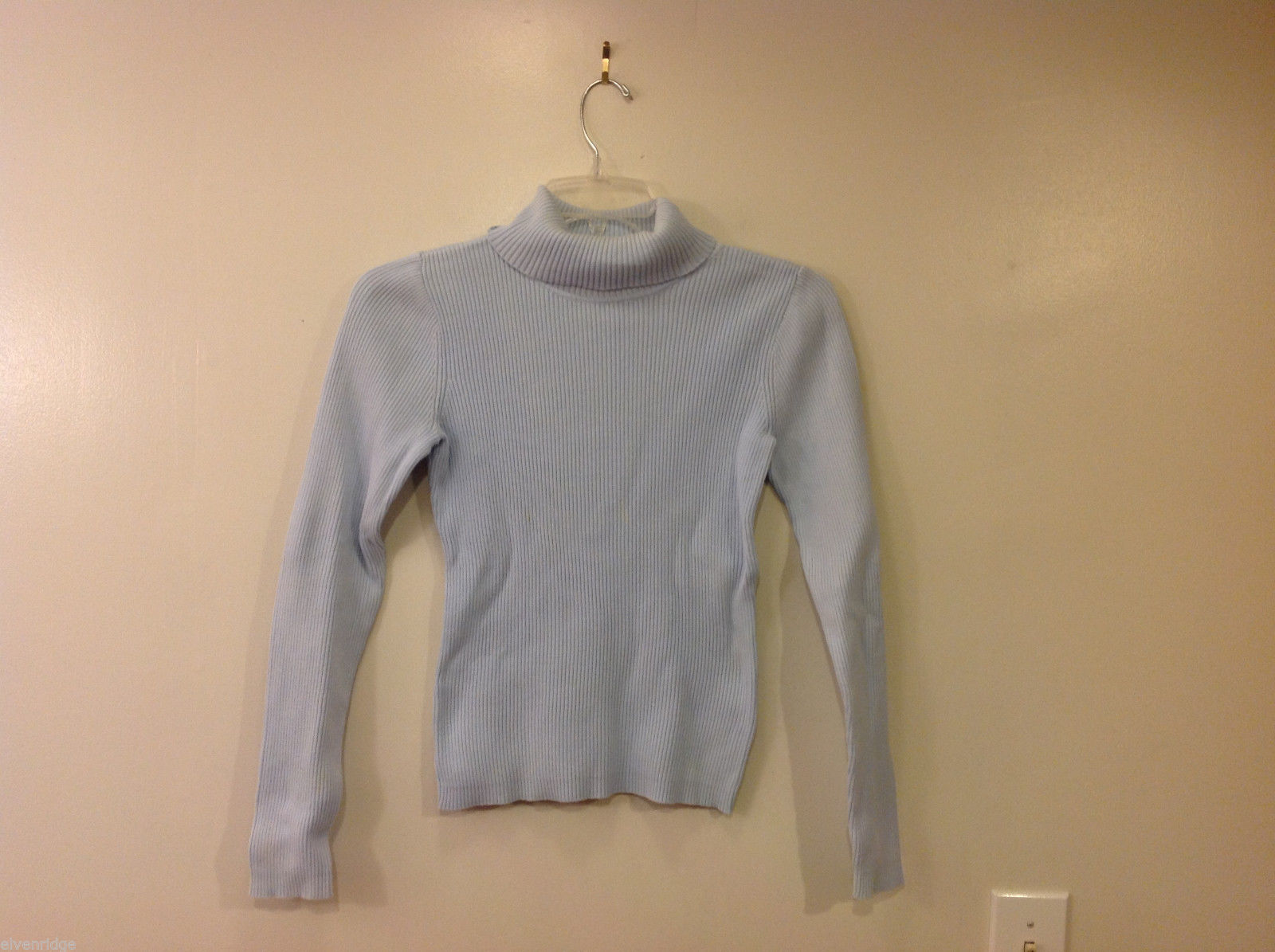 GAP Women's Size S Turtleneck Sweater Top Ribbed Knit Light Powder Pastel Blue
