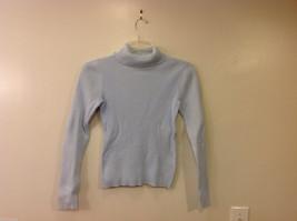 GAP Women's Size S Turtleneck Sweater Top Ribbed Knit Light Powder Pastel Blue