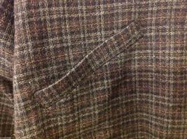 Aeropostale Women's Size L Zipper Jacket Plaid Check Wool Blend Dark Navy & Gray image 6
