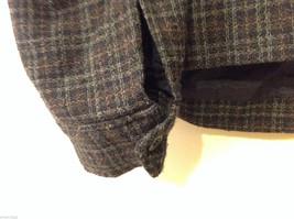 Aeropostale Women's Size L Zipper Jacket Plaid Check Wool Blend Dark Navy & Gray image 8