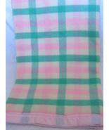 "Lovely Vintage Pendleton Pastel Colors Wool Blanket 72""x88"" - $65.99"